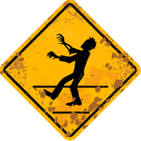 Zombie Crossing Sticker