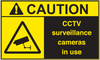 ANSI Caution CCTV Surveillance Cameras In Use Vinyl Sign #2
