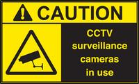 ANSI Caution CCTV Surveillance Cameras In Use Vinyl Sign #2