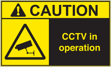 ANSI Caution CCTV In Operation Vinyl Sign
