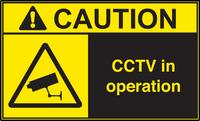ANSI Caution CCTV In Operation Vinyl Sign