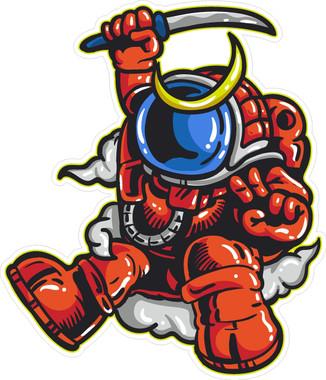 Astronaut Samurai Sticker