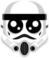 Stormtrooper Head Sticker