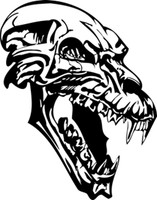The Hungry Werewolf Skull Decal