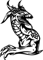 Bust Dragon Upright Decal