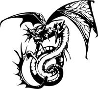 Coiled Dragon Decal
