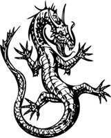 Coiled Dragon Up Decal