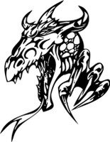Curled Horn Dragon Decal