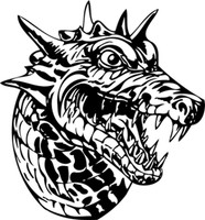 Dragon Bust To The Right Decal