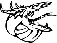 Dragon Facing The Right Decal