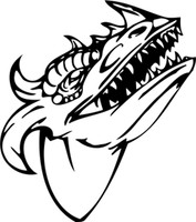 Dragon Head Profile Decal