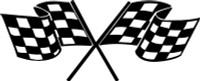 Checkered Flag Racing Decal