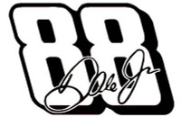 Dale Jr #88 Racing Sticker