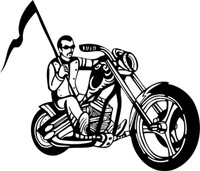 The Color Guard Motorcycle Decal