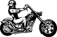 Iron Man Motorcycle Decal -