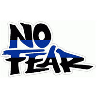 No Fear Black and Blue Sticker