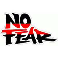No Fear Black and Red Sticker