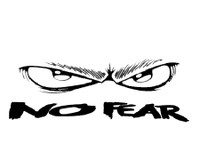 No Fear Eyes Decal