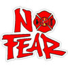 No Fear Red Firefighter Sticker