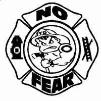 No Fear Bad Boy Firefighter Decal