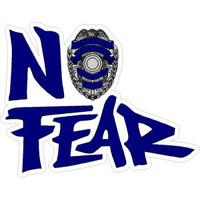 No Fear Blue Police Shield Sticker