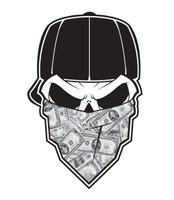 No Fear Skull & Money Decal