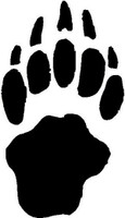 Badger Animal Track Decal