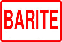 Barite Label