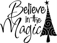 Believe In The Magic Christmas Decal