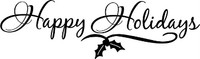 Happy Holidays Christmas Decal