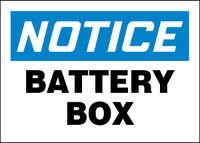 Notice Battery Box