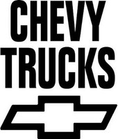 Chevy Truck Stacked Decal