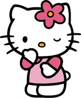 Hello Kitty Winking