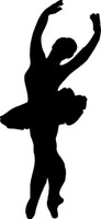Ballerina Silhouette Decal 3