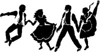 Country Shadow Dancers Decal