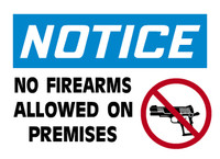 Notice No Firearms Allowed On Premises 1