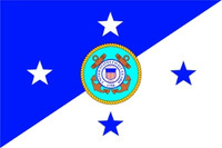 US Coast Guard Commandant Flag