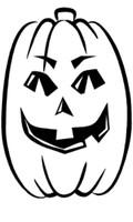 Happy Halloween Slender Pumpkin