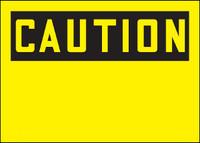 Customizable Caution Blank Plastic Sign