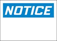 Customizable Notice Blank Plastic Sign