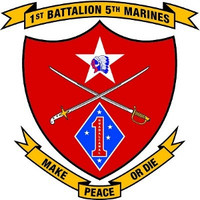USMC 1st Battalion 5th Marine Regiment Sticker