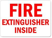 Fire Extinguisher Inside Plastic Sign