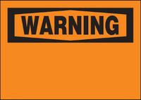 Warning Blank Aluminum Sign