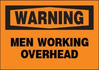 Warning Men Working Overhead Aluminum Sign