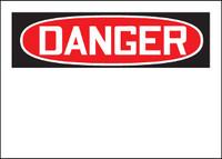 Customizable Danger Blank Aluminum Sign