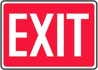 Exit Plastic Sign 1