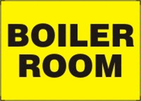 Boiler Room Aluminum Sign