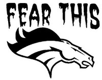 Fear This Mustang Decal