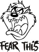 Fear This Tasmanian Devil Decal