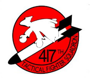 USAF Air Force 417th Tactical Fighter Squadron